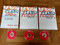 Jazz Piano Books - Jazz Piano from Scratch, plus Grade 1 & 2 Music Books