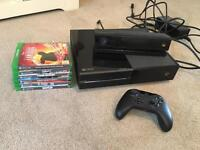 Xbox one 500gb, Kinect, controller + 6 games.