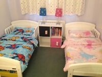 Toddler bed, mattress and duvet set £100.00 each