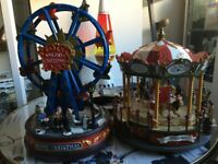 Big Wheel & Carousel Christmas Decorations