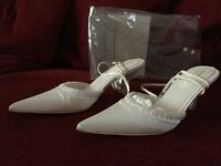 White and Crystal Bridal Shoes