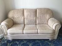 Fabric Sofa Set Full Set 3 seater + 2 arm chairs