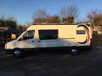 2006 Volkswagon converted camper van. Crafter long wheel base with high roof