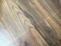 Dark wood laminate flooring 3 brNd bee boxes