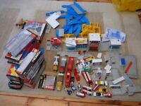 TOMY TOMICA TRACKMASTER TRAINS TRACK DIE-CASTS FIRE RESCUE boxed TRACK fit THOMAS the tank HUGE lot