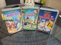 3 X DVDS-bambi-jungle book -101 dalmatians