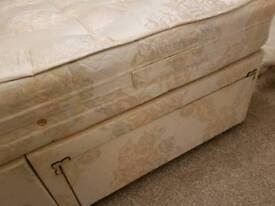 Double 2 drawer divan bed.