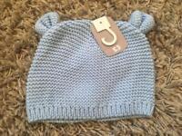 Sainsbury's tu baby pale hat 6-12 months