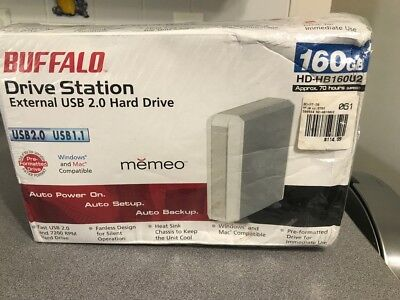 Buffalo Drive Station External Hard Drive 160GB but SUPER RARE UNOPENED BOX