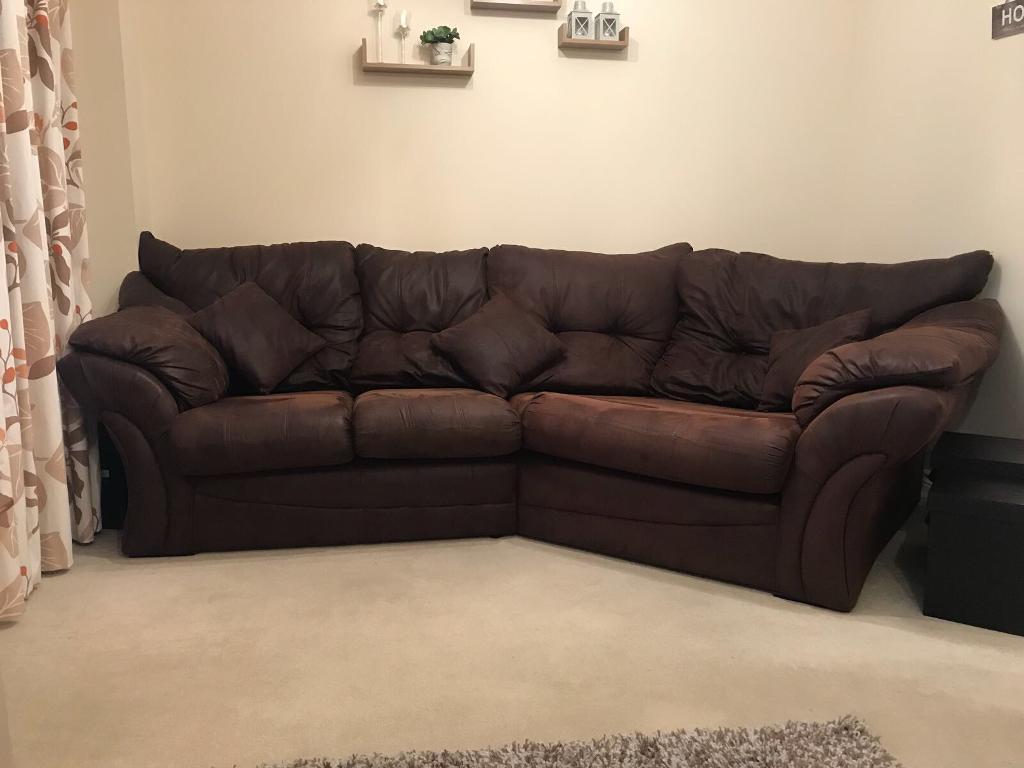 Florida Brown Cozy Corner Sofa For