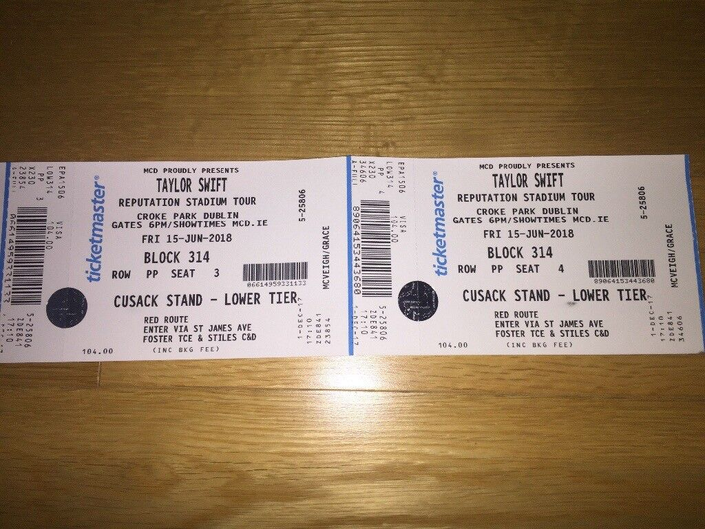 Taylor Swift Tickets In Moira County Armagh Gumtree