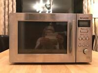 Sharp silver microwave oven