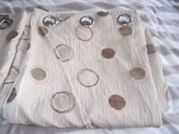 dunelm lined ring topped curtains