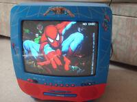 spiderman tv/dvd player