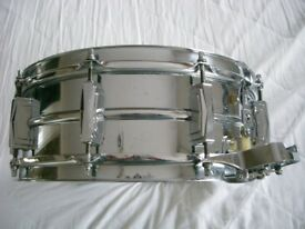 """Ludwig 410 seamless alloy Supersensitive snare drum 14 x 5"""" - Chicago - '61-'68 -P71"""