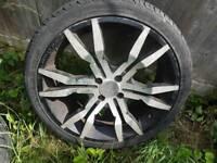 4x100 4 x 100 18 alloy wheels + tyres