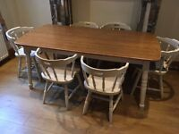 Farmhouse style kitchen table