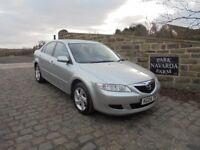 Mazda 6 S In Silver, 2004 04 reg, Service History, 11 Service Stamps, MOT May 2018
