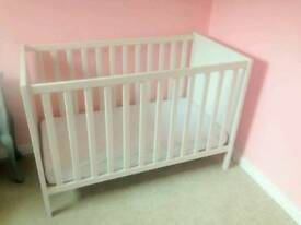 Ikea Sundvik Baby Cot 60x120cm (90£ new) with Mattress if wanted - can deliver