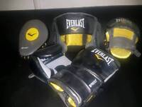 Boxing Gloves, Gel Pads and Head Guard