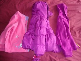 Girls Coats and Jackets. Age 3-4. 3 Items