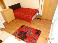 One nice King size bedroom is available in a two-bedroom flat.