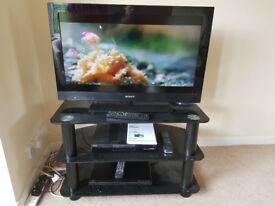 """Sony 32"""" LCD TV + DVR Freeview Recorder + DVD Player + Stand"""