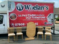 Oak wood extendable dining room table and 4 chairs £95