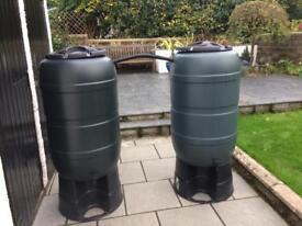 2 water butts And stands
