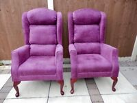 HSL Good Quality Armchairs x 2
