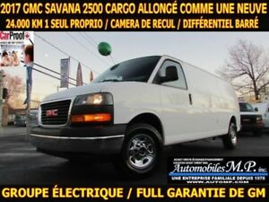 2017 GMC Savana 2500 ALLONG? CARGO 24.000 KM GROUPE ?LECTRIQUE C