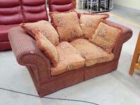 Two seater sofa with gothic letters. 180cm