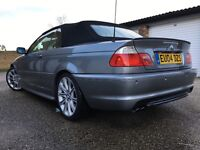 3 SERIES BMW 320 CI SPORT CONVERTIBLE 2.2 PETROL AUTOMATIC 2004-REG FULLY LOADED SERVICE HISTORY