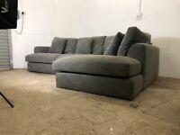 Grey next corner sofa, couch, suite, furniture 🚚🚛🚚