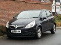 Vauxhall Corsa CDTI Breeza (2008/58 Reg) + NEW SHAPE + 5 DOOR + BLACK + DIESEL + BREEZE MODEL +