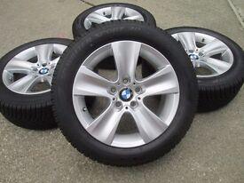 """Genuine BMW 5 series F10 F11 6 series F12 F13 F 17"""" 17 inch Winter Wheel Set"""