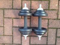 BRAND NEW DUMBBELLS BY YORK 20KG
