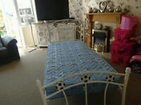 Like new John Lewis single bed with unused mattress BARGAIN AT £35
