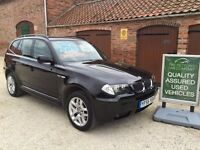 BMW X3 2.0I M-SPORT, 4X4, 1 MATURE LADY OWNER + BMW, 50,500 MILES, FSH, .... NOW SOLD.....