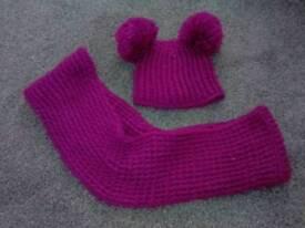John lewis girls hat and scarf set