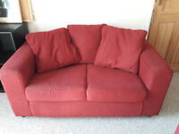 2 seater red/burgundy sofa for sale