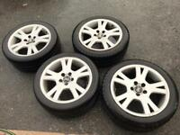 "Volvo 17"" alloys good tyres"