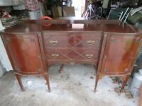 Harrods vintage serpentine mahogany bow sideboard