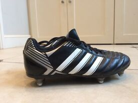 Childs Adidas football boots (with studs) excellent condition