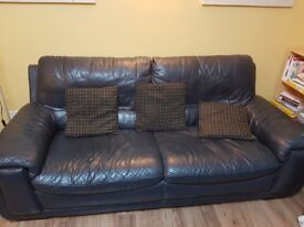 3 seater faux leather sofa in great condition