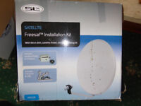 SLX Freeview satellite installation kit, 60cm dish - unused and boxed