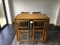 Housing Units Wooden High table and Chairs