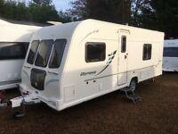 Bailey Caravan Olympus 534 (2010) Full Size Separate Shower/Toilet Across Rear. Like Hobby/Fendt