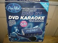 Pop idol DVD karaoke with 2 microphone inputs