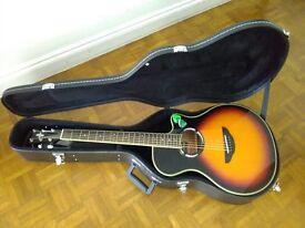 Yamaha APX500 MK3 Electro Acoustic Guitar Vintage Sunburst + hard carry case.